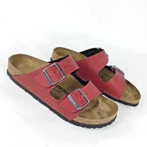 Birkenstocks Red Arizona Double Strap Sandals